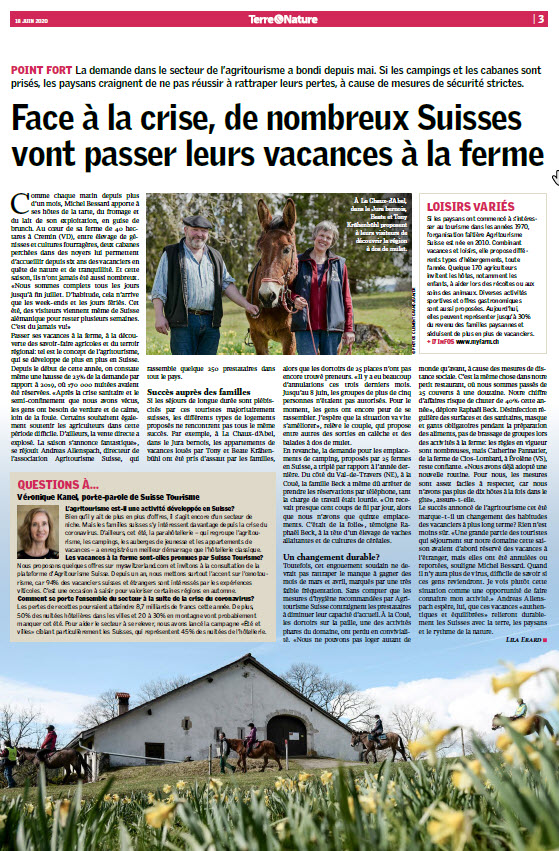 Revue de presse Terre&Nature 2020
